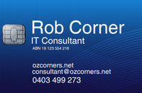 Rob Corner - Business Card